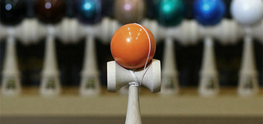 Orange kendama